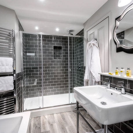Luxury bathroom at The Whitebrook - Restaurant with Rooms